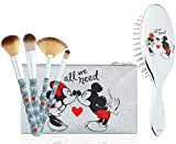 Disney Beauty Case Per Donna E Ragazza, Pochette Di Minnie Mouse Con Set Di Pennelli Make Up E Spazzola Per Capelli, Trousse Da Viaggio Merchandising Ufficiale, Idee Per Regali Originali