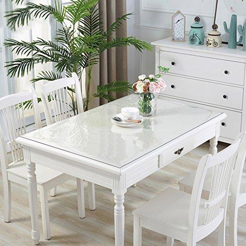 Nappes en PVC souple en verre imperméable à l'eau Anti - Hot table transparente Pad Table en tissu Table basse Pad Nappe en plastique plaque de cristal ( Couleur : A , taille : 70*120cm )
