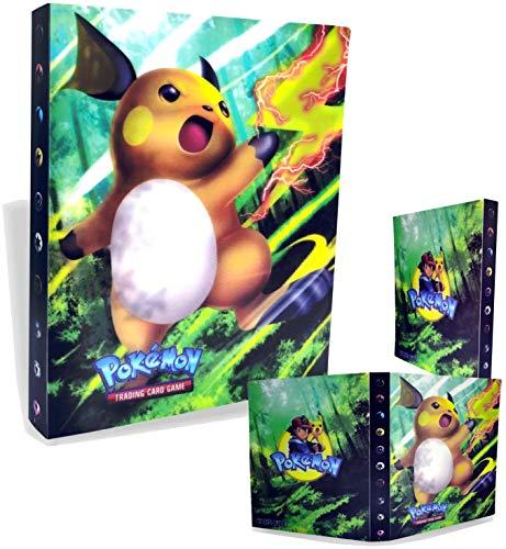 Gxhong Álbum de Pokemon Carpeta de Titular de Tarjetas de Pokemon Album de Cartas Pokemon, Pikachu Cards Album de Coleccionables 30 páginas 240 Tarjetas Capacidad