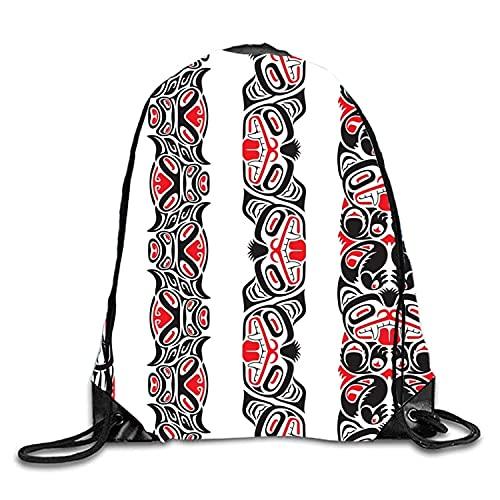 Lawenp Divertido patrón Mochila con cordón Mochila Impermeable Gymsack Daypack para Hombres Mujeres