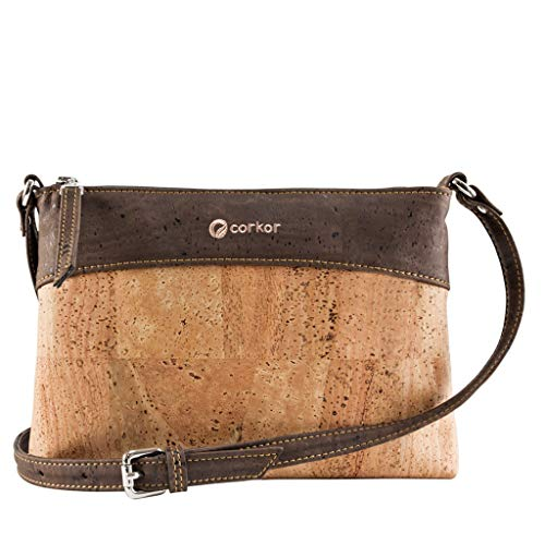 Crossbody Bag Women - Vegan Handbag Cross-Body - Cork Purse - Brown Cork Handbag
