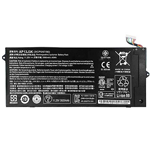Hubei AP13J3K Replacement Laptop Battery for Acer Chromebook 11.6' C720-2848 C720 C720P C740 Notebook AP13J4K 3ICP5/65/88 (11.25V 3990mAh 45WH )