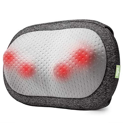 Mynt Cordless Neck Back Massager, Shiatsu Rechargeable Massage Pillow with Heat-3D Deep Kneading, Use Unplugged, iF Design Award Winner