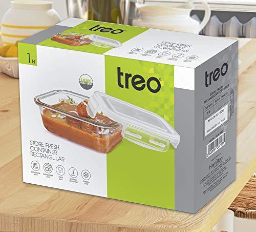 Treo by Milton Store Fresh Rectangular Glass Storage Container, 320 ml