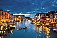 YANGBM 水市ヴェネツィアの夜、大人、子供のための教育玩具、ギフト用木製パズル1000ピース絵画風景デコレーション ジグソーパズル (Size : 500)