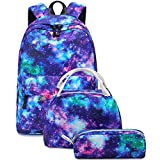 Abshoo Lightweight Water Resistant Galaxy Backpacks for Teen Girls School Backpack with Lunch Bag (Galaxy D Set)