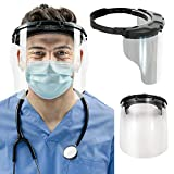 Medspec Protect Face Shield (Model FS-2.0) | Reusable Shields for Medical, Dental, & Essential Workers | Fogless & Adjustable Medical Face Guard with Quick-Release Lens System | Made in The USA