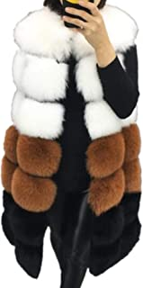 Lisa Colly Winter Women's Fur Vest Coat Warm Long Vests Fur Vests Women Faux Fur Vest Coat Outerwear Jacket