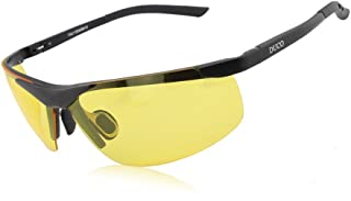 Duco Night-vision Glasses For Headlight Polarized Driving Glasses 8125 (Black Frame Yellow Lens)