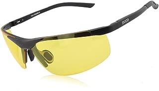 DUCO HD Anti Glare Night-Vision Headlight Polarized Al-Mg Metal Frame Glasses for Driving