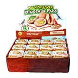 Q-XIAOKEAI,Dig it up Dinosaur Eggs12 Dino Egg Toys STEM Learning Kids Activity Gift Party Favors for Kids 12 Mystery Excavation Adventure Discover Dinosaur Eggs Birthday Party Supply