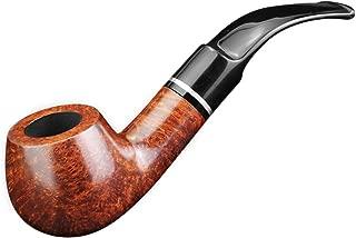 FULUSHOU Mediterranean Briar Wood Tobacco Pipe, Mini Bend Tobacco Pipe,Dad Gift