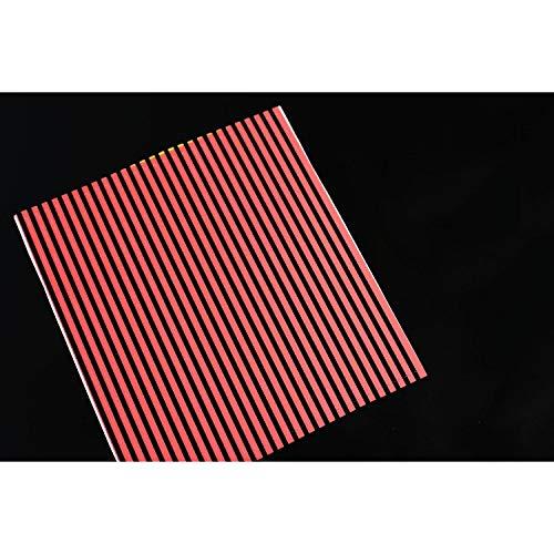 Tigofly 5 Stück 10 cm synthetischer Pfauenkiel, Körperwickel, Fliegenbindung, Materialien, Nymphe, Käfer, Bond Fliegen, Bindeaufkleber, Köder, Aufkleber (rot)