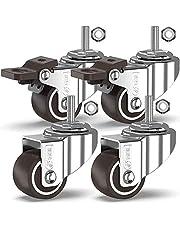 GBL - 4 wielen met schroeven Heavy Duty wielen zwenkwiel rubberen wielen voor meubels tafel trolley