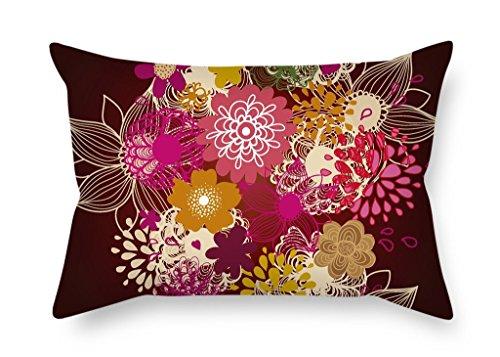 MaSoyy Kussenslopen van bloem 20 X 26 Inches / 50 By 65 Cm, beste pasvorm voor bank, thuisbioscoop, festival, gril Friend,lounge 2 zijdes