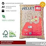 miglior Pellet 4U scuro 100% legno - Pellet stufa qualità