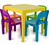 Kids Table and Chairs Set - Toddler Activity Chair Best for Toddlers Lego, Reading, Train,...
