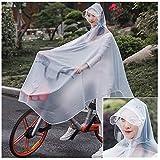 Trasparente impermeabile Cappotto in bicicletta Pioggia Poncho adulti pioggia con cappucci e Parasole Tarp, la protezione completa con la visiera, Mobility Scooter Moto Raincoat Pioggia di copertura r