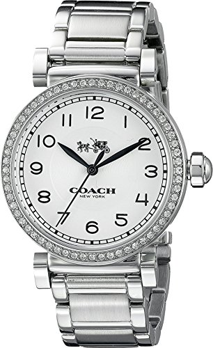 COACH Women's Madison Fashion 36mm Bracelet Watch White/Stainless Steel Watch