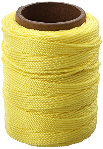 Cordage Source 89Y No.18 Twisted Nylon Twine, 250-Feet, Neon Yellow