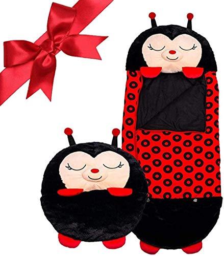 dorit Lustiger Kinderschlafsack, Kinder Tier Schlafsack Kissen, Schlafsack Geeignet Für Kinder 3 to 6 Jahre, Kinderschlafsack Mit Kissen, 53.5 * 20 Inch