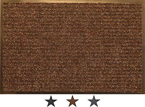 oKu-Tex Felpudo, Polipropileno, marrón, 60 x 120 x 0,75 cm