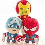 Peluche 3 Piezas/Set Peluches Hulk Thor Capitán América Ironman Spiderman Peluches De Peluche Muñecas De Peluche Gran Regalo