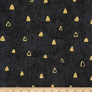 Robert Kaufman 0540672 Kaufman Gustav Klimt Triangles Black Fabric by the Yard
