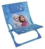 Fun House 712353 - Sedia a Sdraio per Bambini, Pieghevole, in Acciaio, Motivo Frozen, 39 x 46 x 43 cm, Colore: Blu