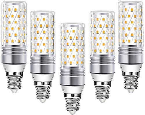 Lampadine LED E14 Wowatt Luce Bianca Calda 2700K 16W 1600LM Equivalente a 100W 120W RA80 Lampade Mais Per Lampadario Cucina Camera da Letto Soggiorno Bagno Interno Esterno 220V NON Dimmerabile 5 Pack