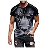 3D Graphic Dark Tiger Print Tops for Men Funny Printed Short Sleeve Crewneck Tee Shirts Basic T-Shirts Blouse Pullover