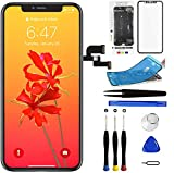 Mobkitfp for iPhone X Screen Replacement 5.8 inch, LCD Display with 3D Touch Digitizer, Repair Kit for A1865/A1901/A1902 with Repair Tools+Waterproof Adhesive