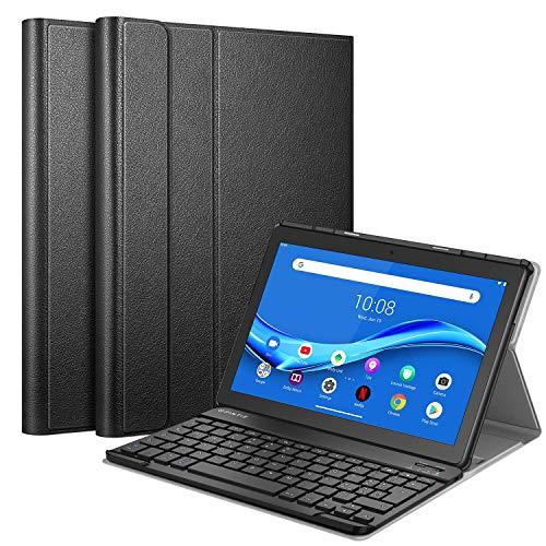 FINTIE Tastiera Custodia per Lenovo Tab M10 TB-X605 / M10 HD TB-X505 [Layout Italiano], Slim Cover con Rimovibile Magnetica Wireless Bluetooth Tastiera, Nero