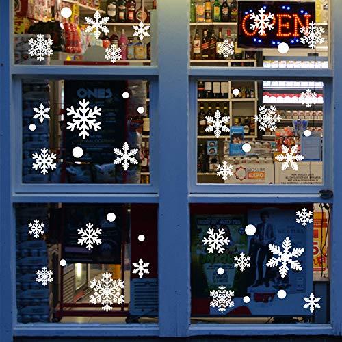 LATTCURE 216 Snowflakes Window Stickers Christmas Self-Adhesive Winter Decoration Christmas Window Stickers Winter Decoration Christmas Decoration (10 Sheets)