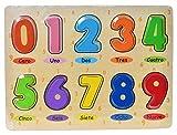 Item- Puzzle Encajes Madera numeros, Multicolor (JE-145212)