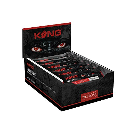 Kong High Protein Bar High Energy & Protein Muscle Maintaining & Building 18g of Protein Bar Gym Training Bodybuilding Nutritious Recovery Muscle Enhancing Bar - Chocolate Carnage - 24 X 60G