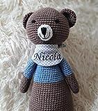 ds-handmade handgefertigte Baby Spieluhr - mit Namen personalisierte Baby Geschenke Junge - Teddy -...