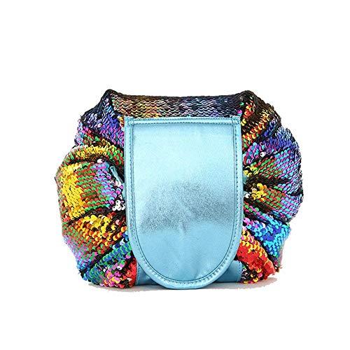 Arpoador Sac cosmétique portable de haute qualité pliable pour cosmétiques (sirène argentée)