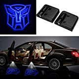 3D Wireless Magnetic Transformers Car Door Step LED Welcome Logo Shadow Ghost Light Laser Projector Lamp Blue Transformers Autobots