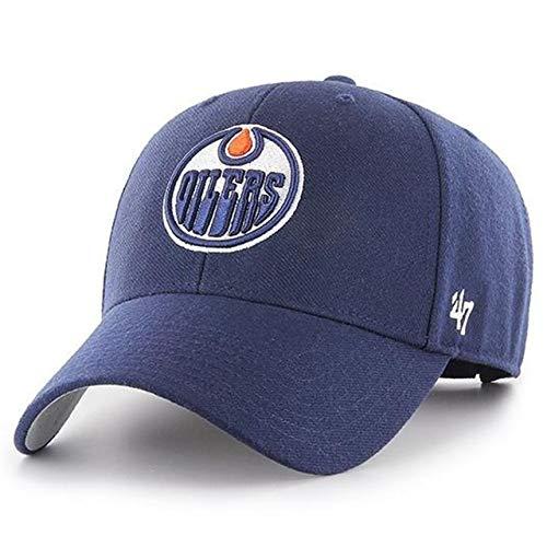 47 Brand Forty Seven MVP Edmonton Oilers Curved Visor Snapback Cap Light Navy NHL