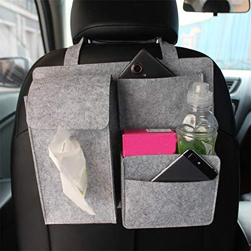 Liergou Car Seat Organizer Car Seat Storage Bag Organizer Holder Multi Pocket Travel Hanging Bag (Color : Gray, Size : 28x32cm)