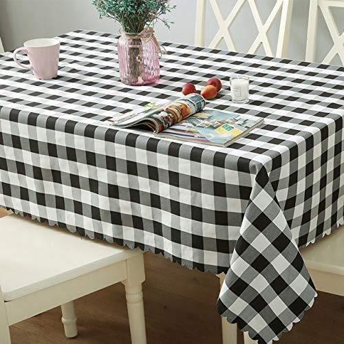 yueyue947 / Mantel Redondo/Mantel a Cuadros para Boda/Manteles rectangulares de poliéster Mantel Cubiertas para Mesa Mantel/Haig/Redondo 120cm