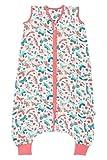 Schlummersack Saco de dormir de muselina de bambú con pies, 0,2 tog, para verano, diseño de mariposas, 120 cm