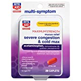 Rite Aid Mucus Relief Severe Cold and Congestion Maximum Strength - 20 Caplets | Cold Relief | Decongestant | Cold Medicine for Adults