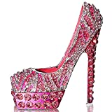 Waltz&F Pink diamond leopard high heels Trinket Box Hinged Hand-painted Figurine Collectible Ring Holder