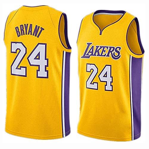 TINKOU Camiseta para Hombre Y Mujer, NBA Lakers 24# Camisetas Camiseta De Baloncesto Bordada Transpirable Swingman