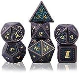 Schleuder Dadi D&D Set Metallo Dice DND, Poliedrici Dadi per Dungeons & Dragons Gioco da T...