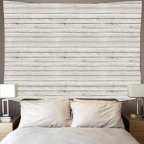 Paño de pared de tablón de madera blanco horizontal tapiz de arte retro tapiz hippie tapiz psicodélico paño para colgar A3 73x95cm