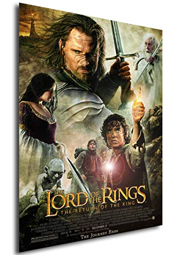 Instabuy Poster The Lord of The Rings The Return of The King Vintage Movie Poster - A3 (42x30 cm)