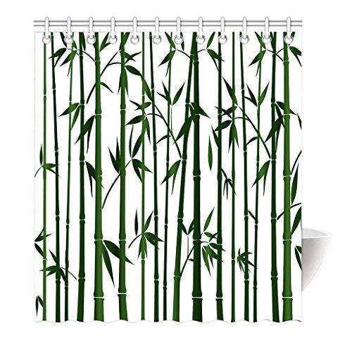 violetpos Rideau de douche vert bambou type Haute Qualité salle de bains, Polyester, 180 x 200 cm